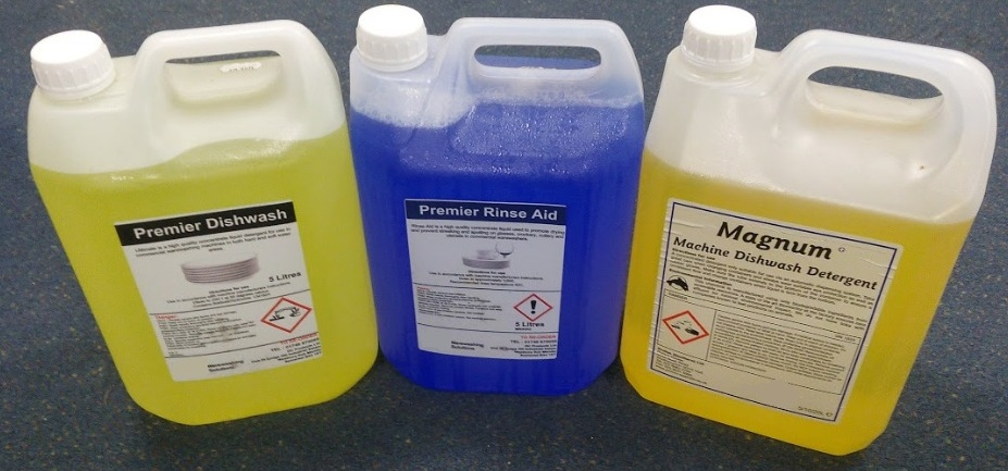 Commercial Dishwasher and Glasswasher Chemicals - Detergent and Rinse Aid